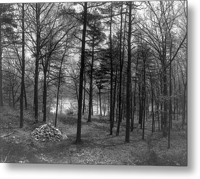 Thoreau Walden Pond Metal Print by Granger