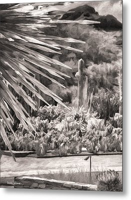 Thorns Of Glass  Bw Metal Print