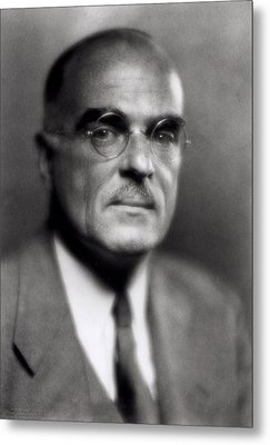 Thornton Wilder Metal Print by Pirie MacDonald