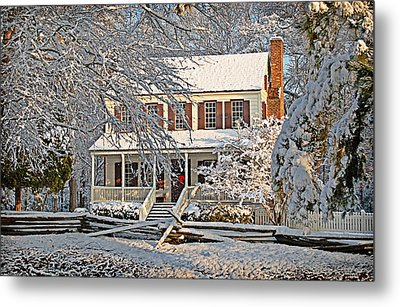 Thorntree In Snow Metal Print