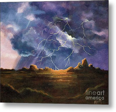 Thor's Fury Metal Print by Marilyn Smith
