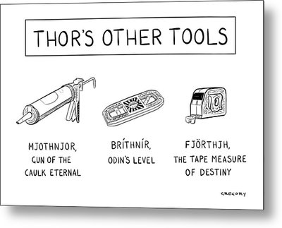 Thor's Other Tools -- Various Carpentry Tools Metal Print