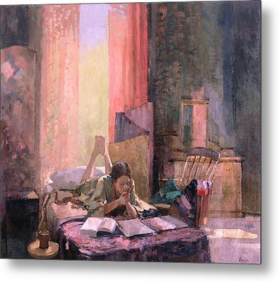 Those A Levels Oil On Canvas Metal Print by Bob Brown