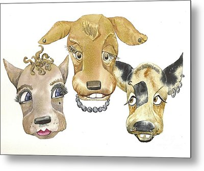 Those Girls Are Dogs. Metal Print by Donna Acheson-Juillet
