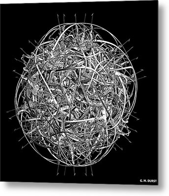 Thought Metal Print by Michael Durst