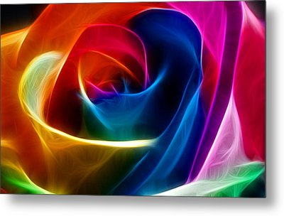 Metal Print featuring the digital art Thoughtful by Karen Showell