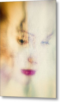 Thoughtful Woman Metal Print by David Ridley