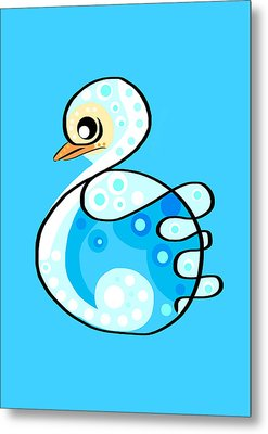 Thoughts And Colors Series Duckling Metal Print by Veronica Minozzi