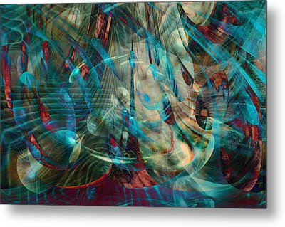 Thoughts In Motion Metal Print by Linda Sannuti
