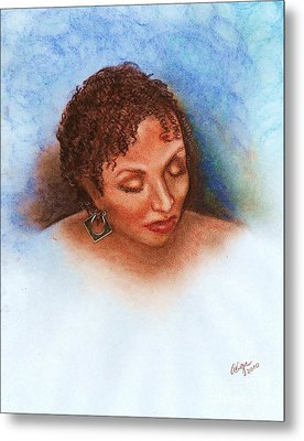 Metal Print featuring the mixed media Thoughts Of You by Alga Washington