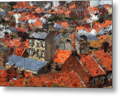 Thousand Roofs Metal Print by Steve K