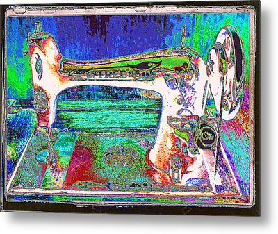 Threads Of Color Metal Print by Jan Amiss Photography