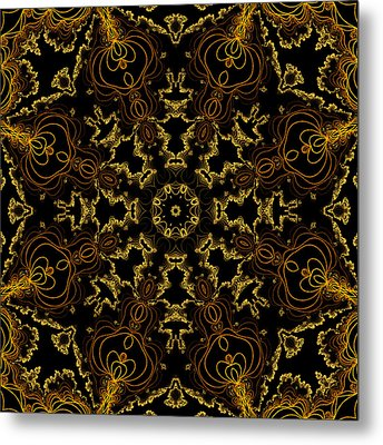 Metal Print featuring the digital art Threads Of Gold And Plaits Of Silver by Owlspook