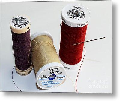 Threads - Quilting Essentials Metal Print