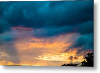Threatening Skies At Sunset Metal Print by Optical Playground By MP Ray