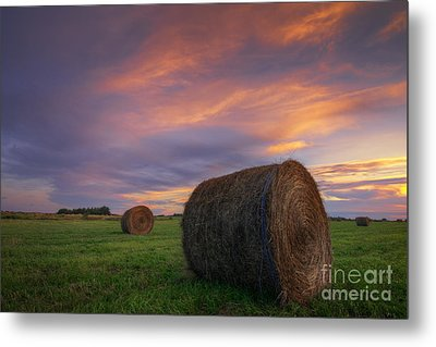 Three Bales Metal Print