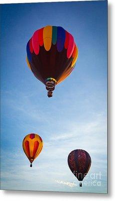 Three Balloons Metal Print by Inge Johnsson