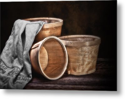 Three Basket Stil Life Metal Print by Tom Mc Nemar