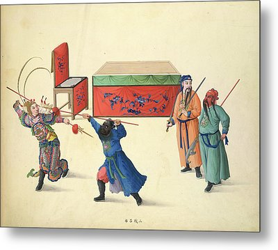 Three Battles Against Lu Pu Metal Print