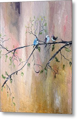 Three Birds Metal Print by Evelina Popilian