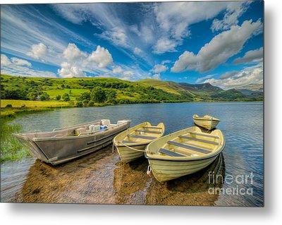 Three Boats Metal Print by Adrian Evans