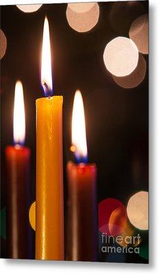 Three Candles Metal Print by Carlos Caetano