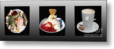 Metal Print featuring the photograph Three Course Meal by Terri Waters