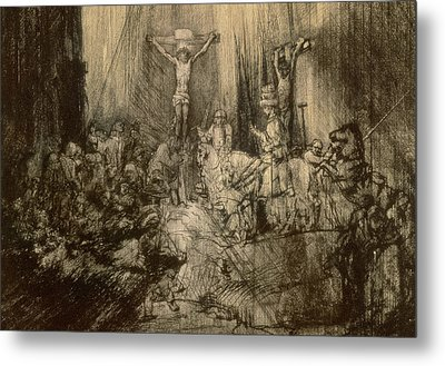 Three Crucifixes Metal Print