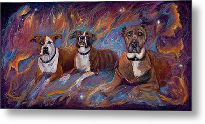 If Dogs Go To Heaven Metal Print by Sherry Strong