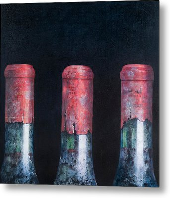 Three Dusty Clarets Metal Print by Lincoln Seligman