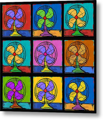 Three Fans Squared Metal Print by Dale Moses