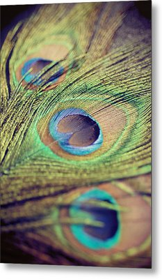 Three Feathers Metal Print