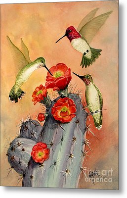 Three For Breakfast Metal Print by Marilyn Smith