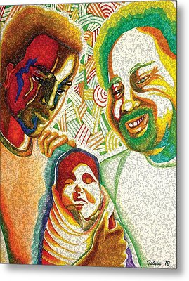 Three Generations Metal Print by Teleita Alusa