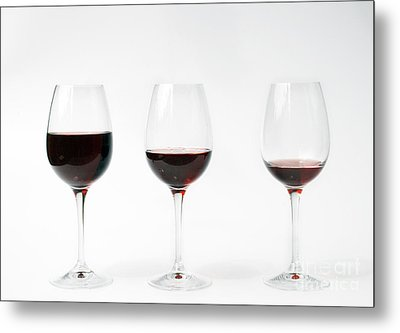 Three Glasses Of Wine  Metal Print