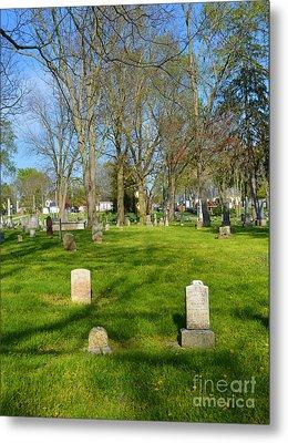 Three Gravestones Metal Print by Alys Caviness-Gober