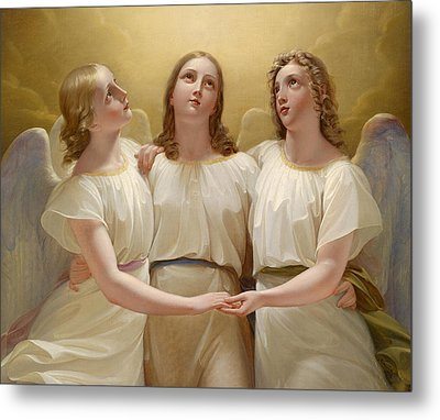 Three Guardian Angel Metal Print by Franz Kadlik