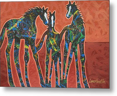 Three In The Family Metal Print by Lance Headlee