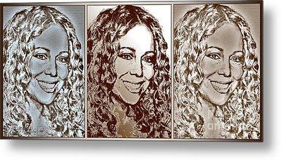 Three Interpretations Of Mariah Carey Metal Print by J McCombie