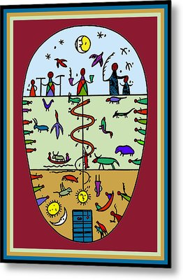 Metal Print featuring the digital art Three Layers Of Life by Vagabond Folk Art - Virginia Vivier