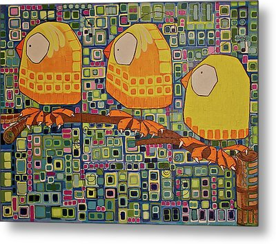 Three Little Birds Metal Print by Donna Howard