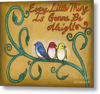 Three Little Birds Metal Print