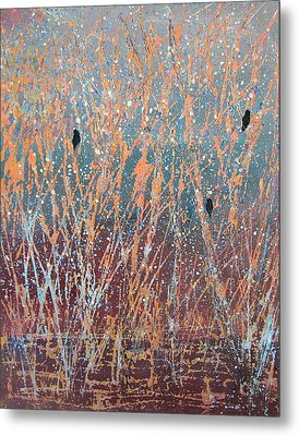 Metal Print featuring the painting Three Of A Kind by Suzanne Theis