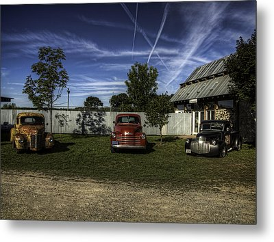 Three Old Timers Metal Print by Thomas Young