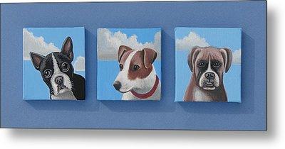 Three Pups Metal Print by Stuart Swartz
