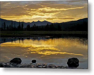 Three Rocks Metal Print by Bob Berwyn