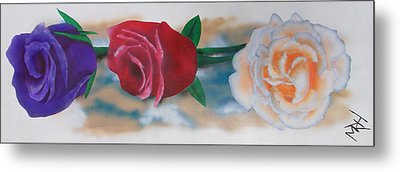 Three Roses Metal Print by Michael Hall