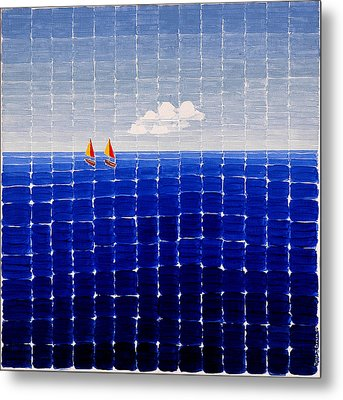 Three Sail Boats #2 Metal Print