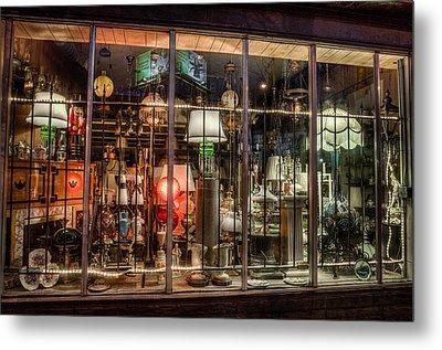 Three Shade Lamp Store Metal Print by Mark Goodman