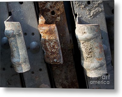 Three Shades Of Rust Metal Print